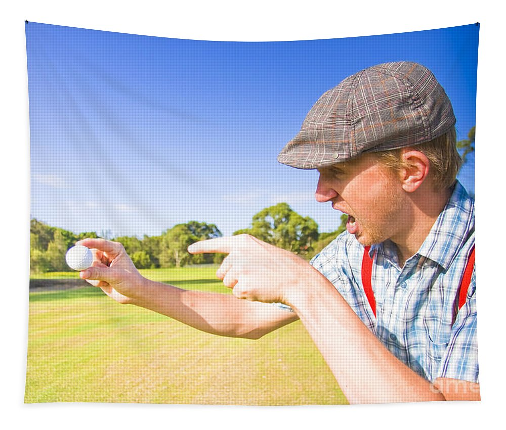 Guy Tapestry featuring the photograph Angry Golf by Jorgo Photography - Wall Art Gallery