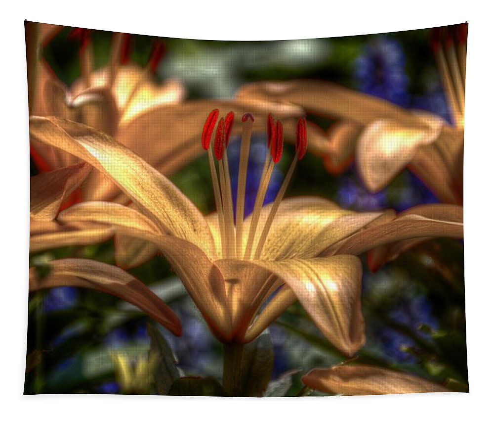 Lily Tapestry featuring the digital art Asiatic Lily by Robert Nelson