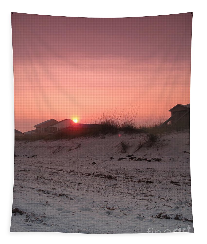 Landscape Tapestry featuring the photograph Beautiful Sunset by Megan Cohen