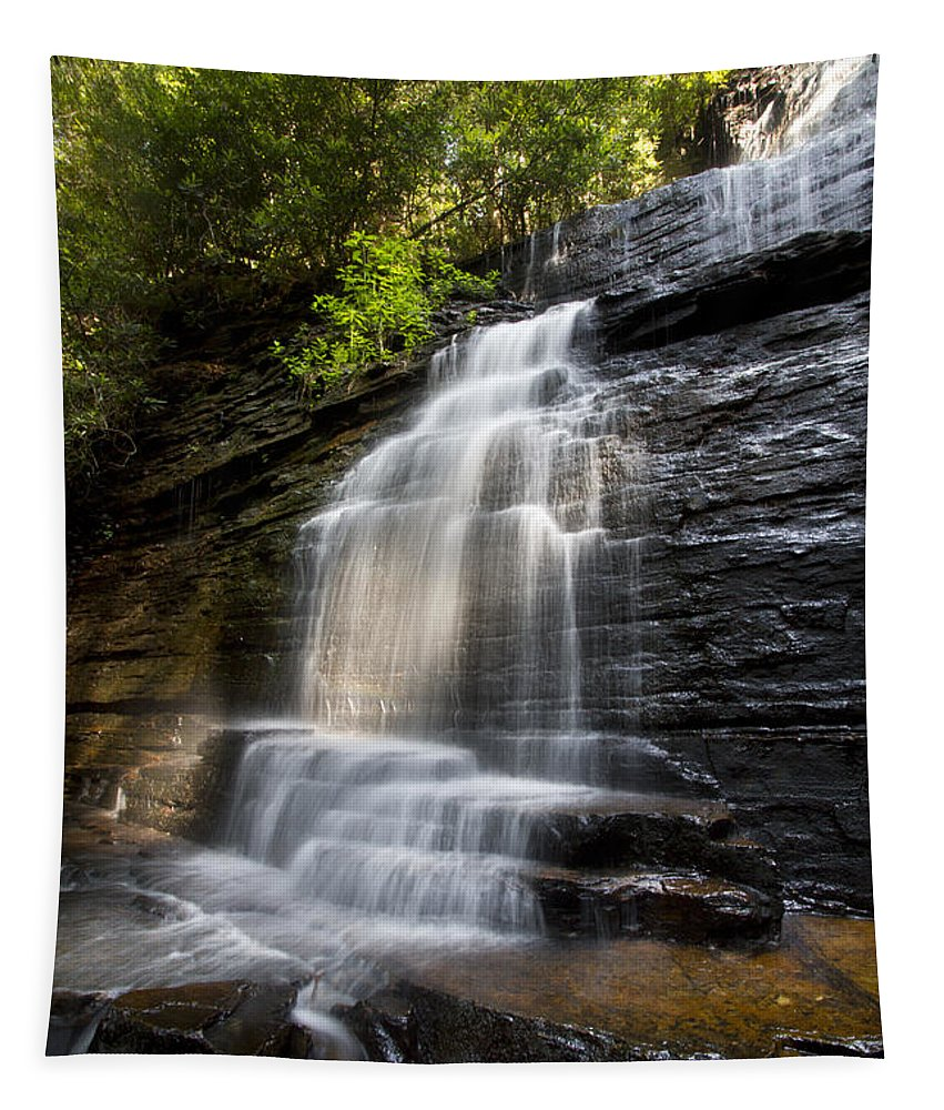 Appalachia Tapestry featuring the photograph Benton Falls by Debra and Dave Vanderlaan