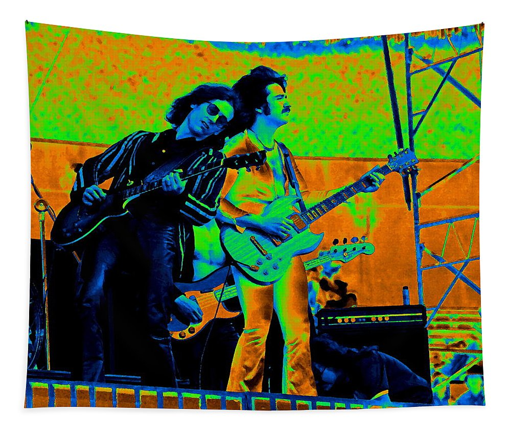 Blue Oyster Cult Tapestry featuring the photograph Boc #20 Enhanced In Cosmicolors by Ben Upham