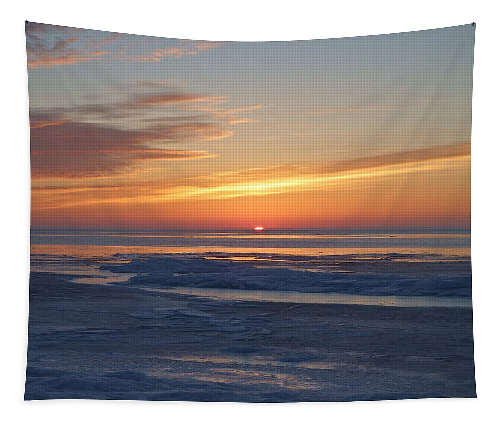 Sunrise Tapestry featuring the photograph Breaking Dawn by Alison Gimpel