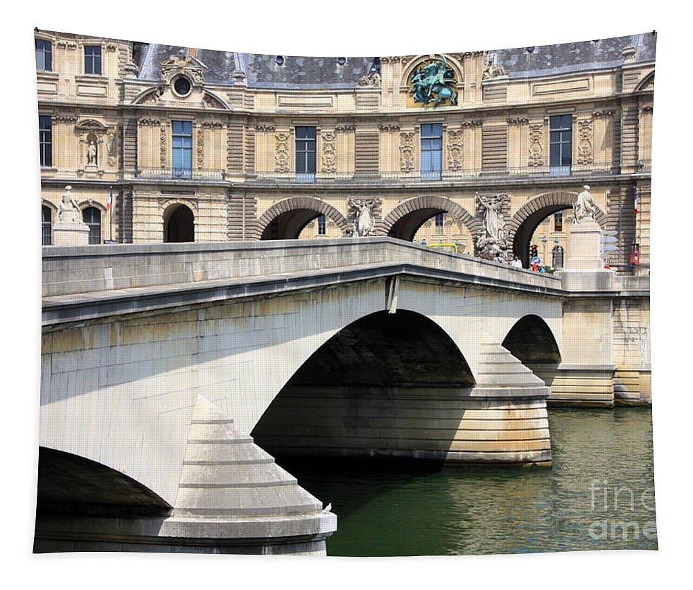 Paris Tapestry featuring the photograph Bridge Over The Seine by Carol Groenen
