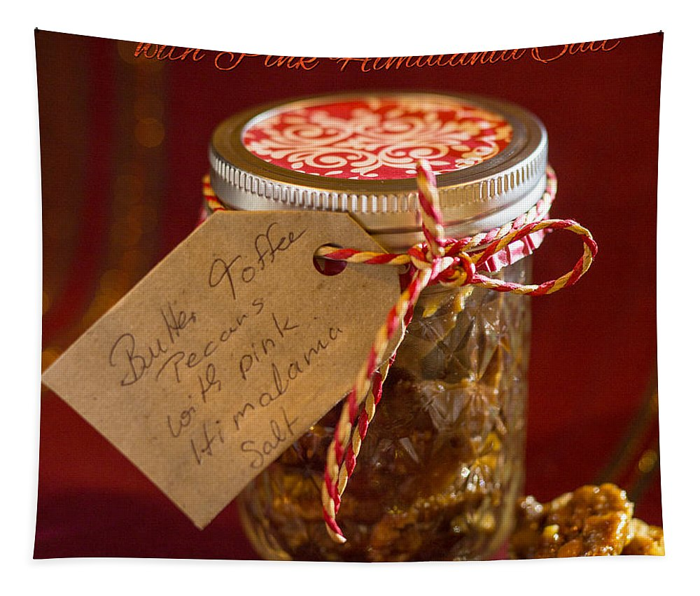 Nuts Tapestry featuring the photograph Butter Toffee Pecan Nuts With Himalania Salt by Iris Richardson