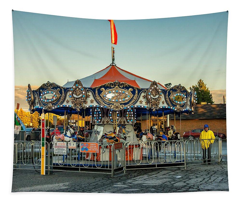 Steve Harrington Tapestry featuring the photograph Carousel by Steve Harrington