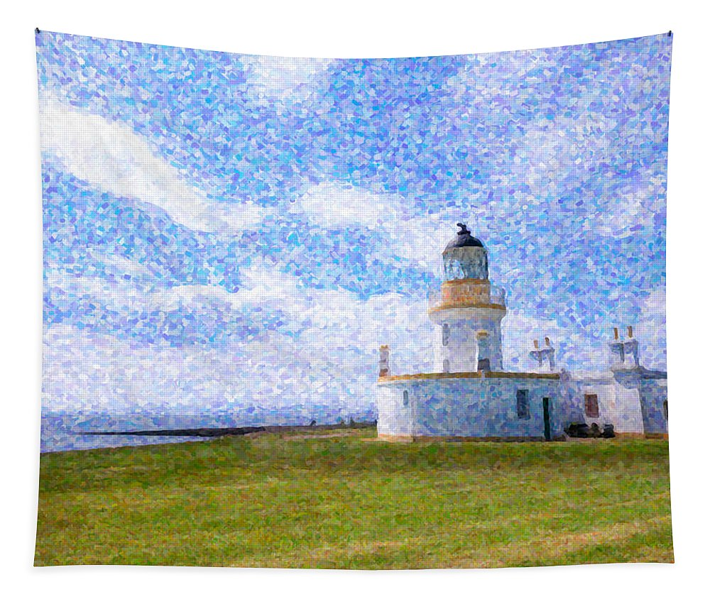 Lighthouse Tapestry featuring the painting Chanonry Point Lighthouse by Hakon Soreide