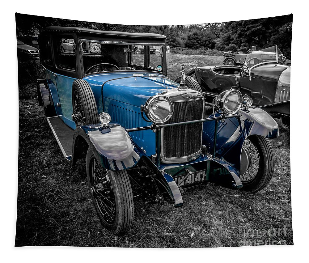 British Tapestry featuring the photograph Classic Cars by Adrian Evans