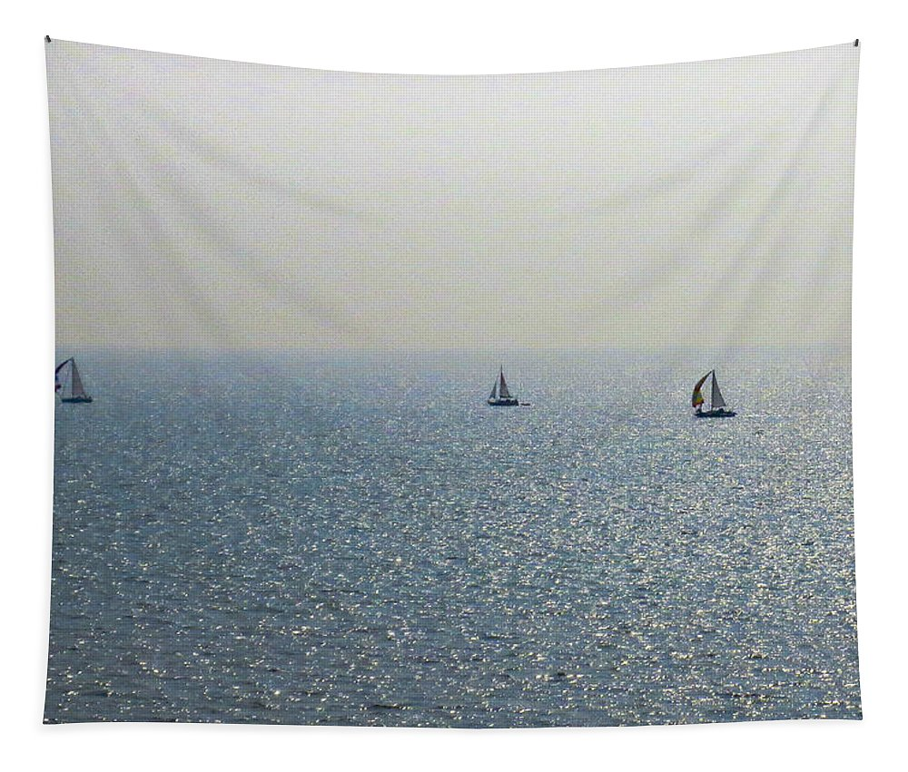 Ships Tapestry featuring the photograph Coast by David Pyatt