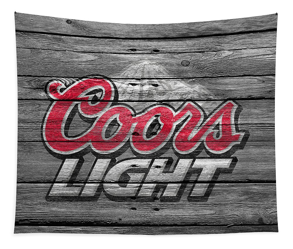 Coors Light Tapestry featuring the photograph Coors Light by Joe Hamilton