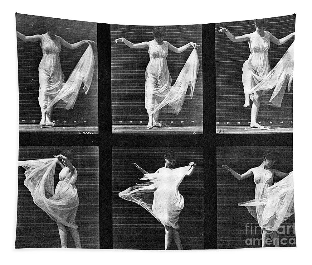 Muybridge Tapestry featuring the photograph Dancing Woman by Eadweard Muybridge