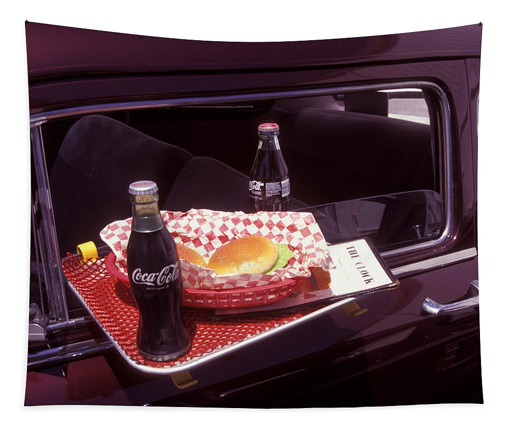 Drive-in Tapestry featuring the photograph Drive-in Coke And Burgers by Paul W Faust - Impressions of Light