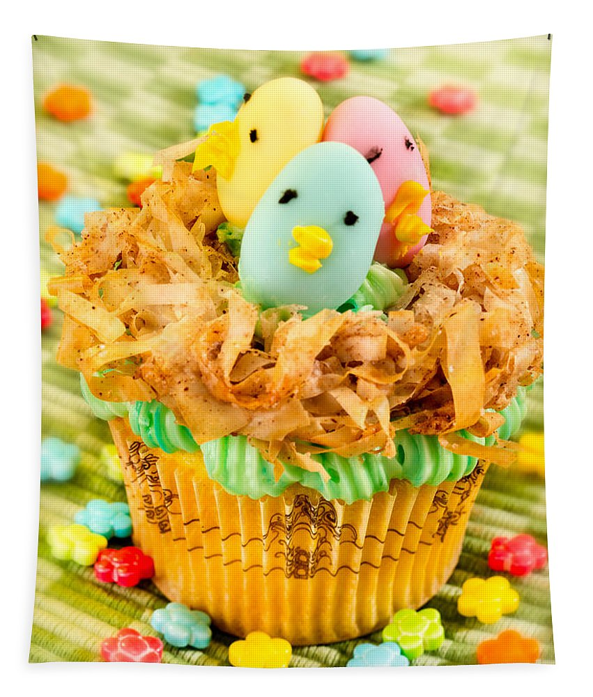 Cupcake Tapestry featuring the photograph Easter Cupcakes by Iris Richardson