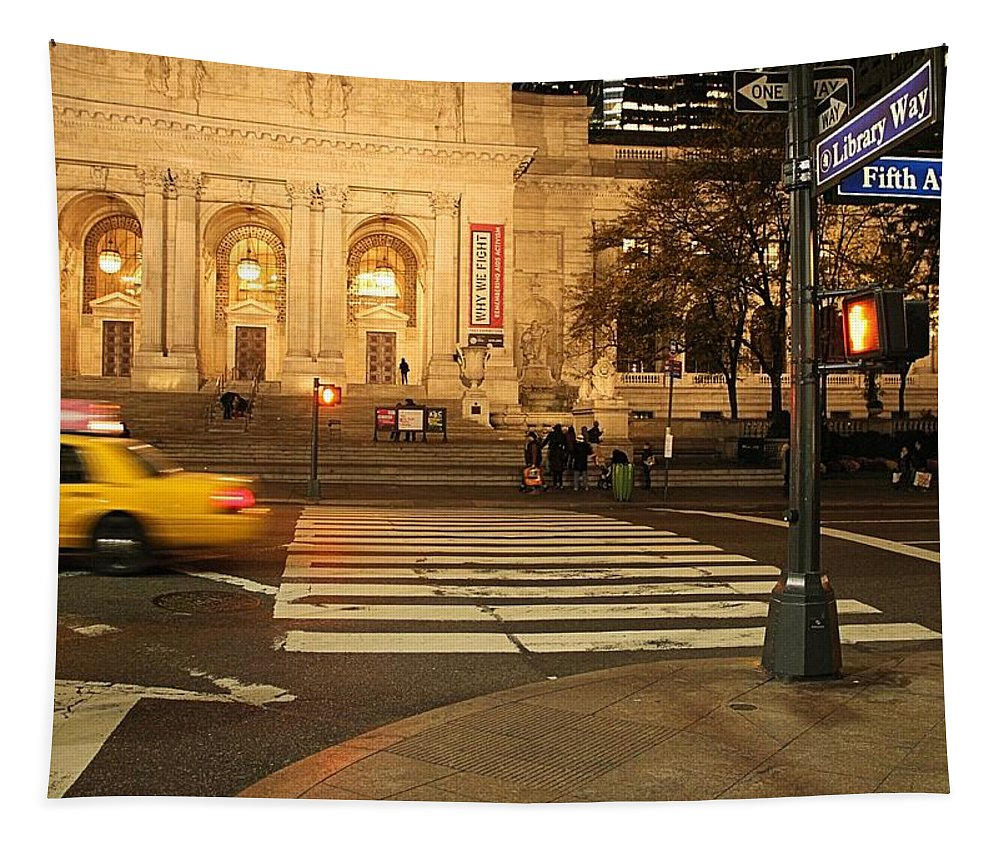 Fifth Avenue Tapestry featuring the photograph Fifth Avenue by Dan Sproul