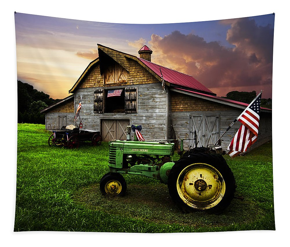 American Tapestry featuring the photograph God Bless America by Debra and Dave Vanderlaan