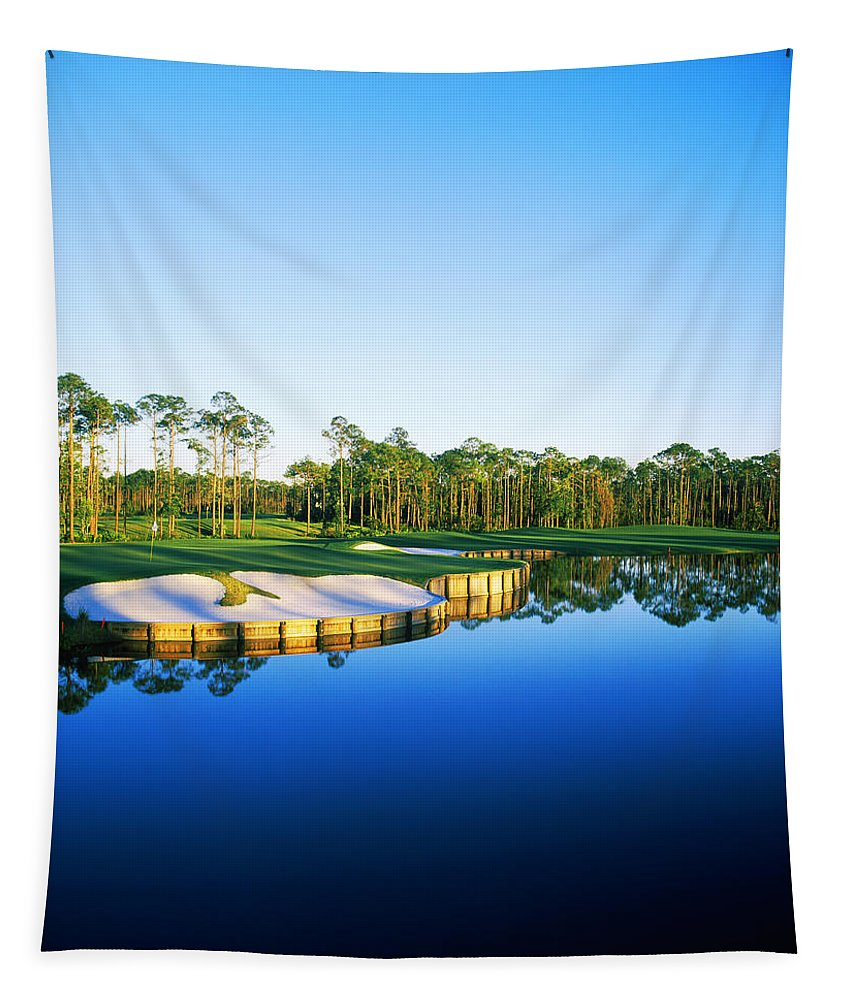 Photography Tapestry featuring the photograph Golf Course At The Lakeside, Regatta by Panoramic Images