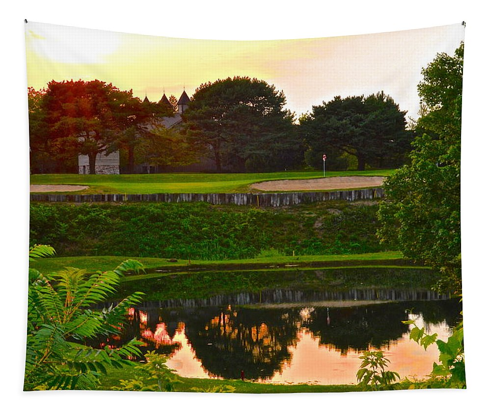 Golf Tapestry featuring the photograph Golf Course Beauty by Frozen in Time Fine Art Photography