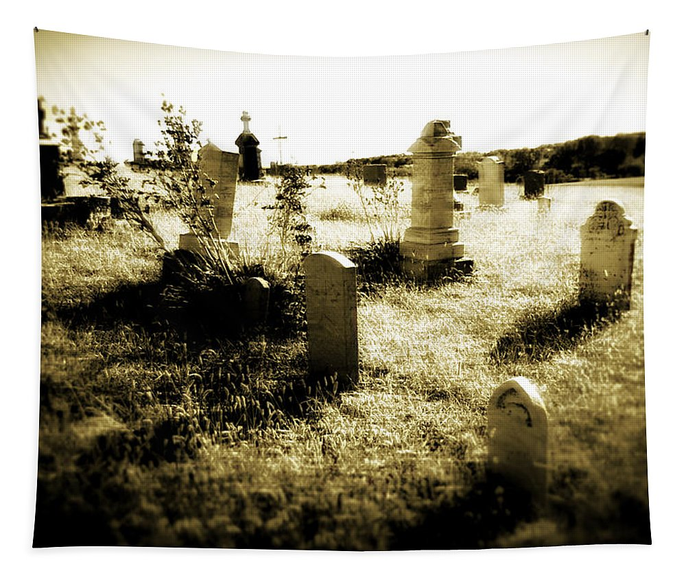 Photography Tapestry featuring the photograph Graveyard 4724 by Timothy Bischoff