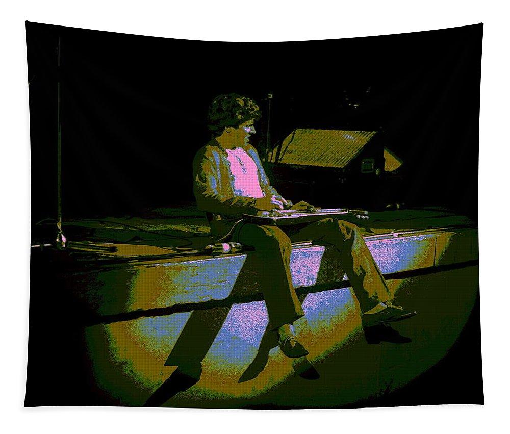 Sammy Hagar Tapestry featuring the photograph Hagar In Spokane 1977 by Ben Upham