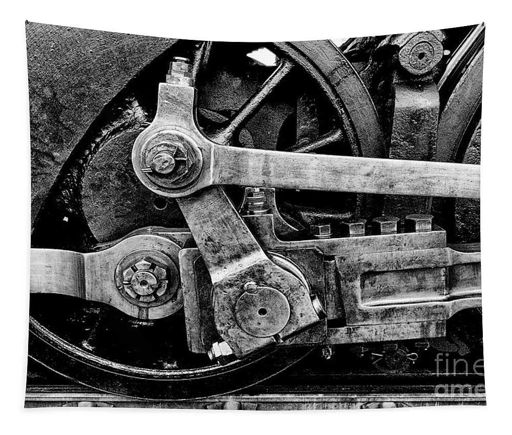 Steam Engine Tapestry featuring the photograph Heavy Steel by Paul W Faust - Impressions of Light