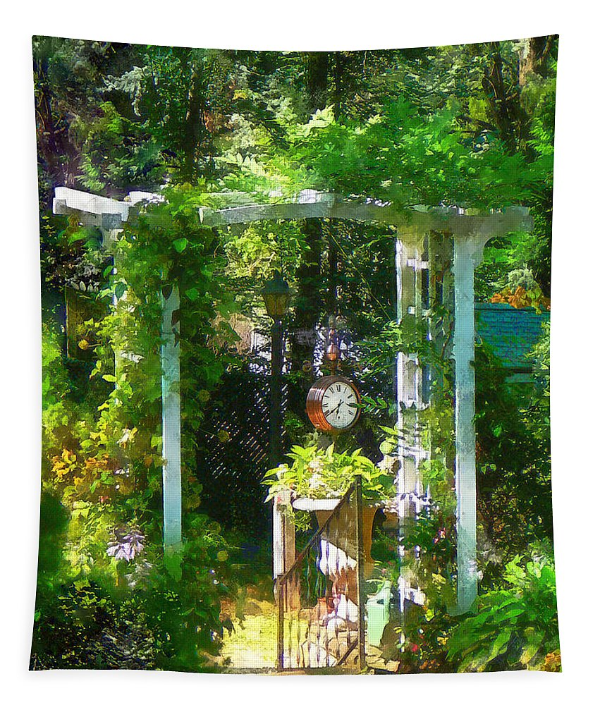 Garden Tapestry featuring the photograph Hidden Garden by Susan Savad
