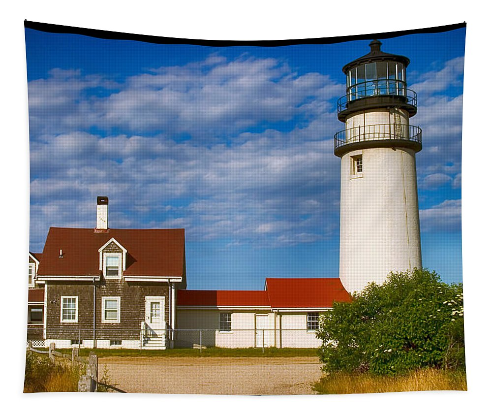 Lighthouses Of New England Tapestry featuring the photograph Highland Lighthouse by Jeff Folger