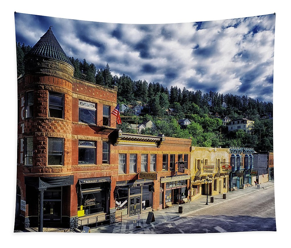 Deadwood Tapestry featuring the photograph Historic Deadwood by Mountain Dreams