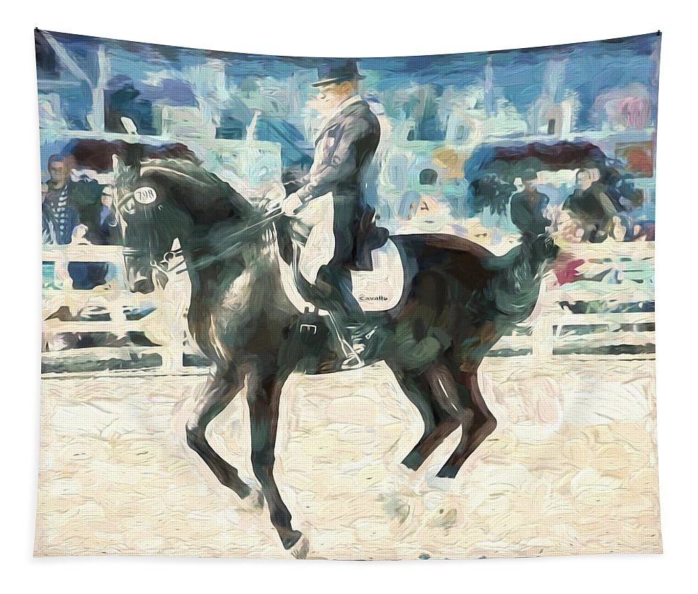 Horse Tapestry featuring the photograph In The Air by Alice Gipson