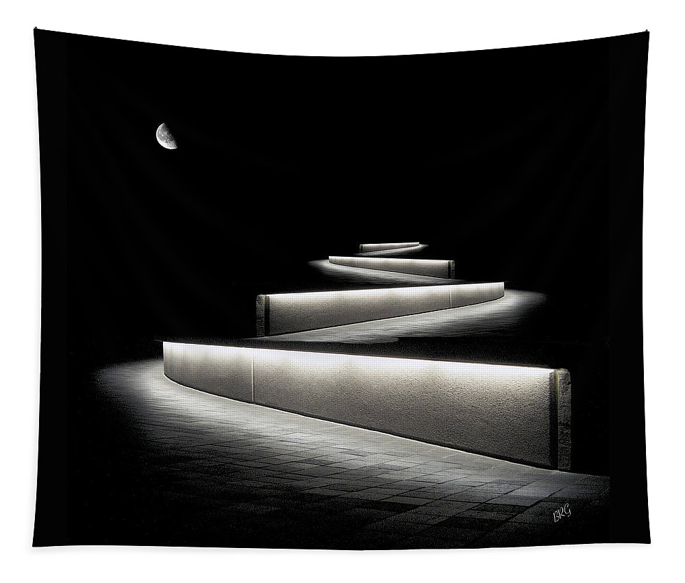 Abstract Architecture Tapestry featuring the photograph Into The Night II by Ben and Raisa Gertsberg