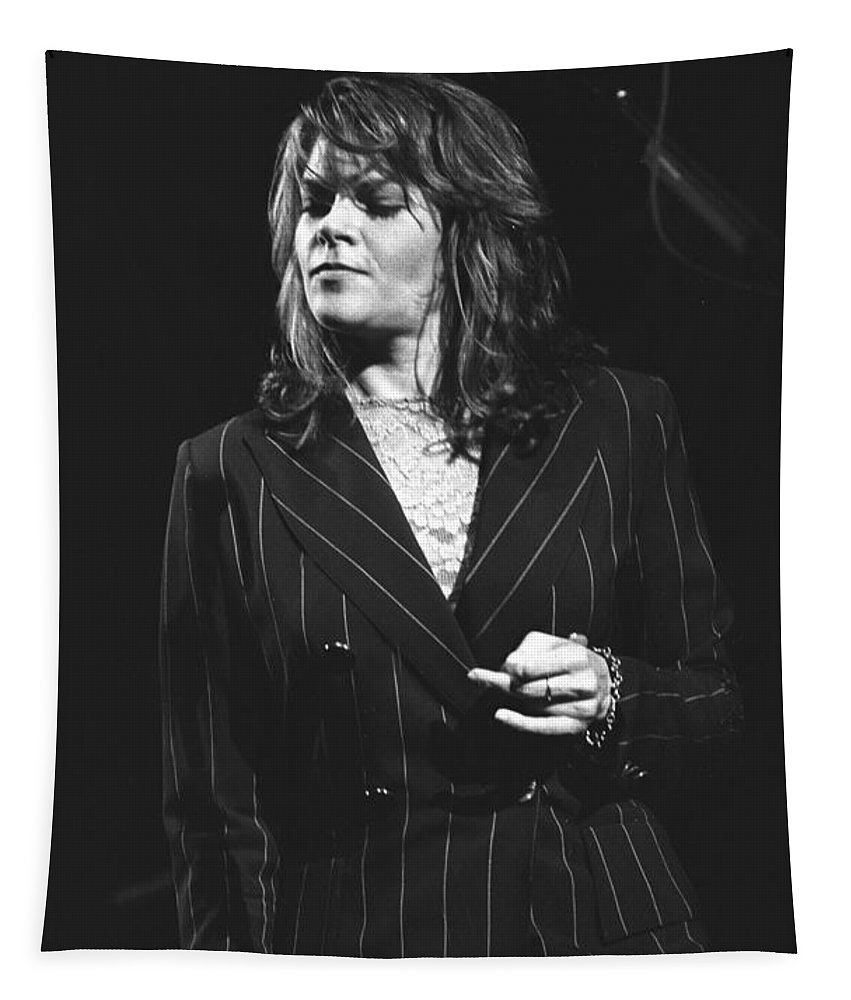 Roseanne Cash Tapestry featuring the photograph Johnny Cash by Concert Photos