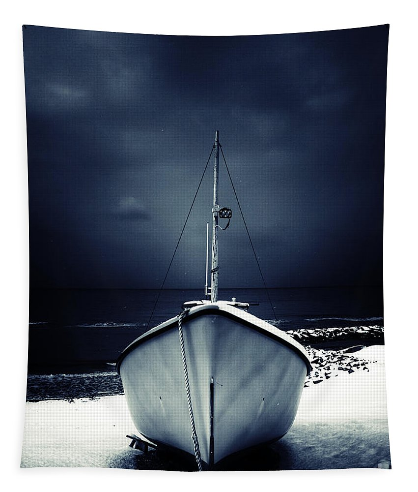 Alone Tapestry featuring the photograph Loneliness by Stelios Kleanthous