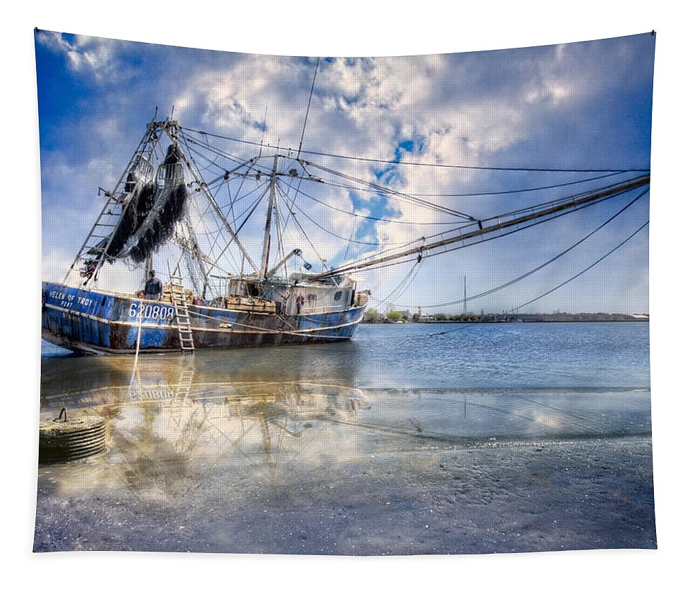Boats Tapestry featuring the photograph Low Tide by Debra and Dave Vanderlaan