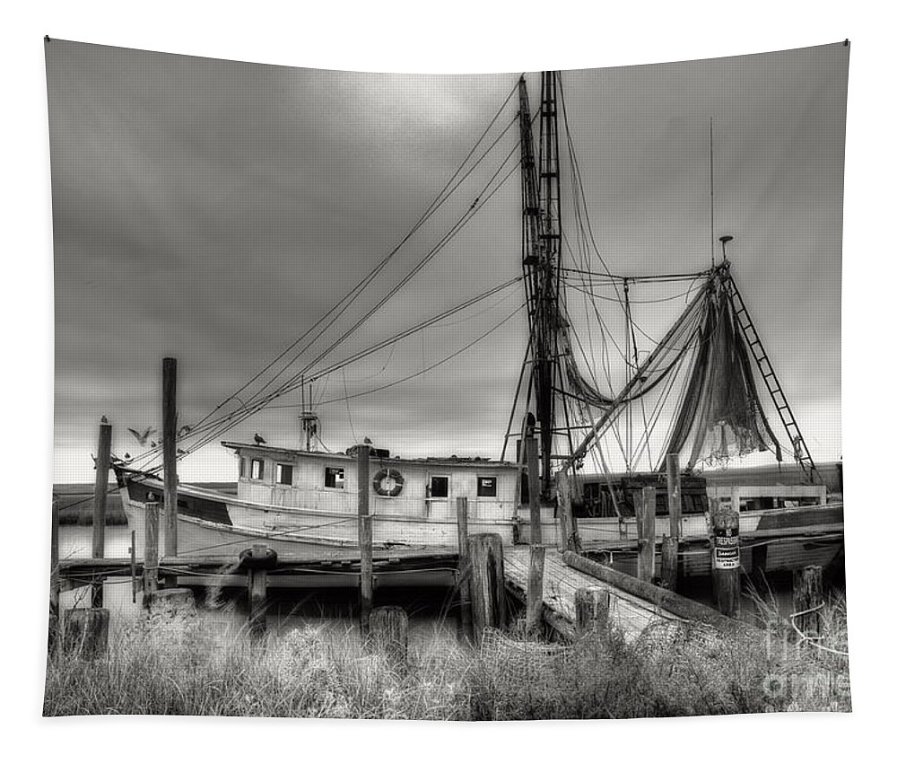 Shrimp Boat Tapestry featuring the photograph Lowcountry Shrimp Boat by Scott Hansen