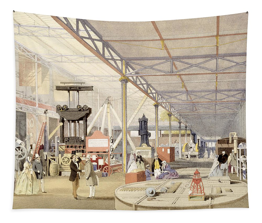 Crystal Palace Tapestry featuring the drawing Machinery, From Dickinsons by English School