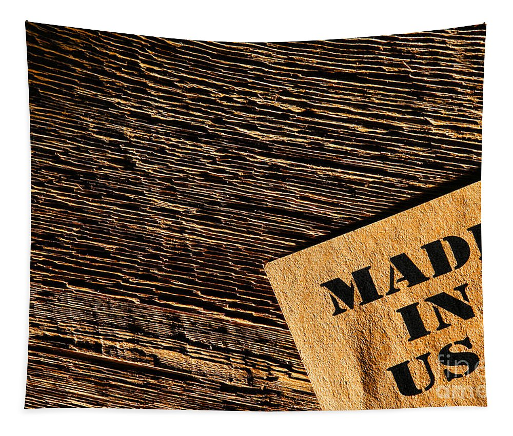Made In Usa Tapestry featuring the photograph Made In Usa by Olivier Le Queinec