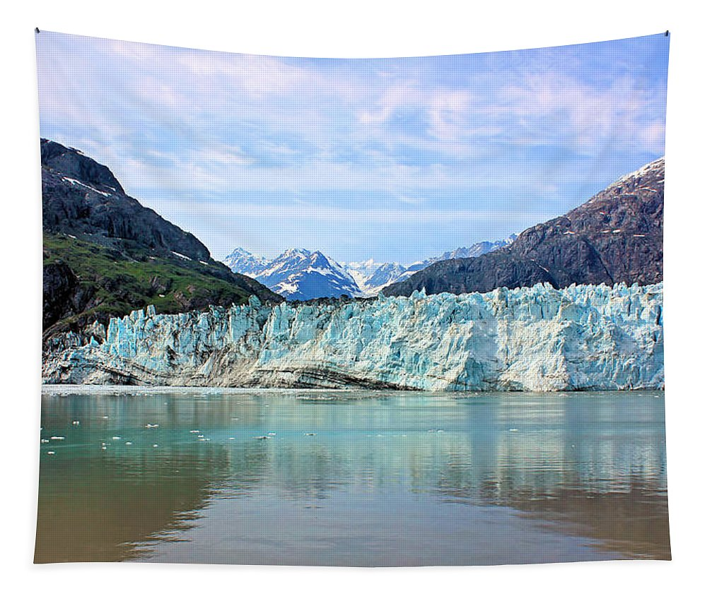 Margerie Glacier Tapestry featuring the photograph Margerie Glacier by Kristin Elmquist
