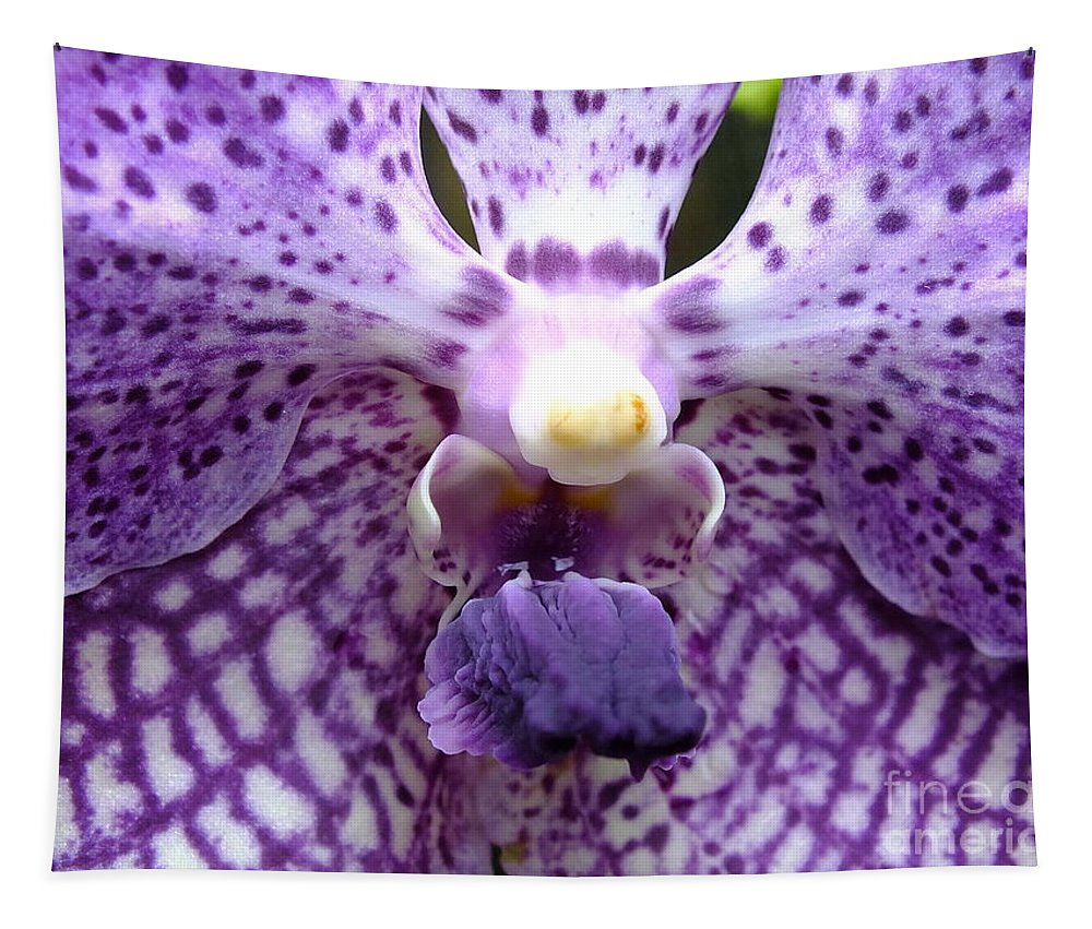Micro Pictures Tapestry featuring the photograph Micro Orchid by Yenni Harrison