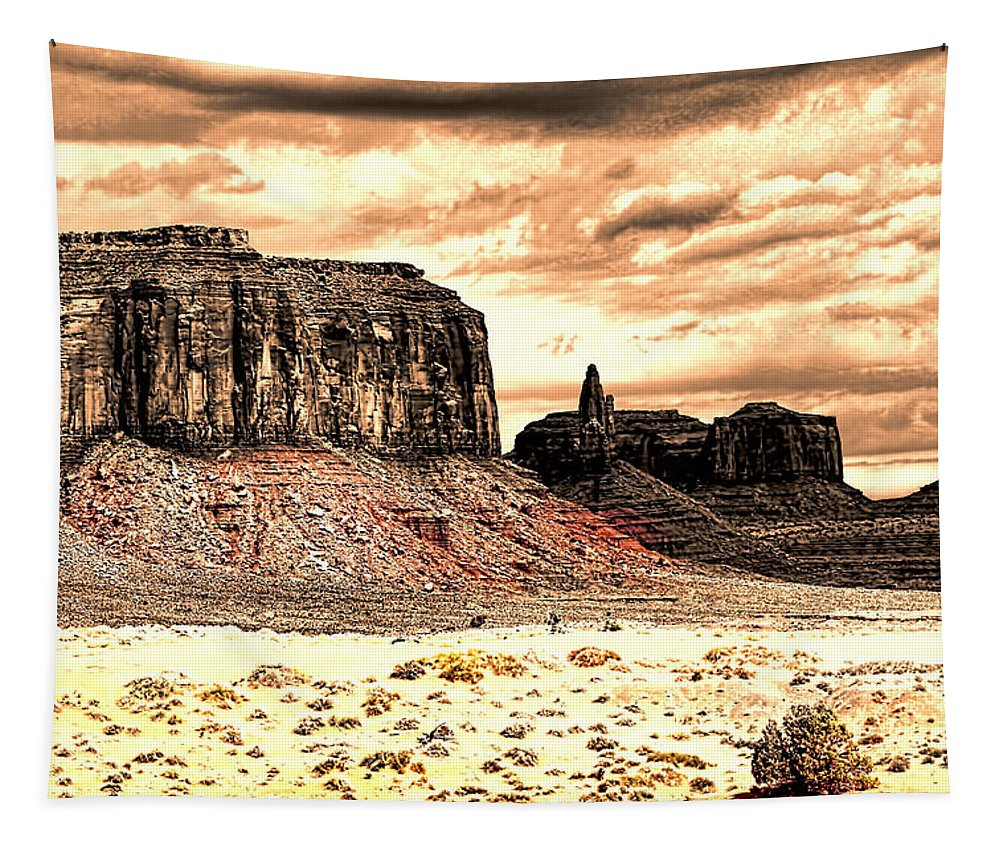 Utah Tapestry featuring the photograph Monument Valley II by Tom Prendergast