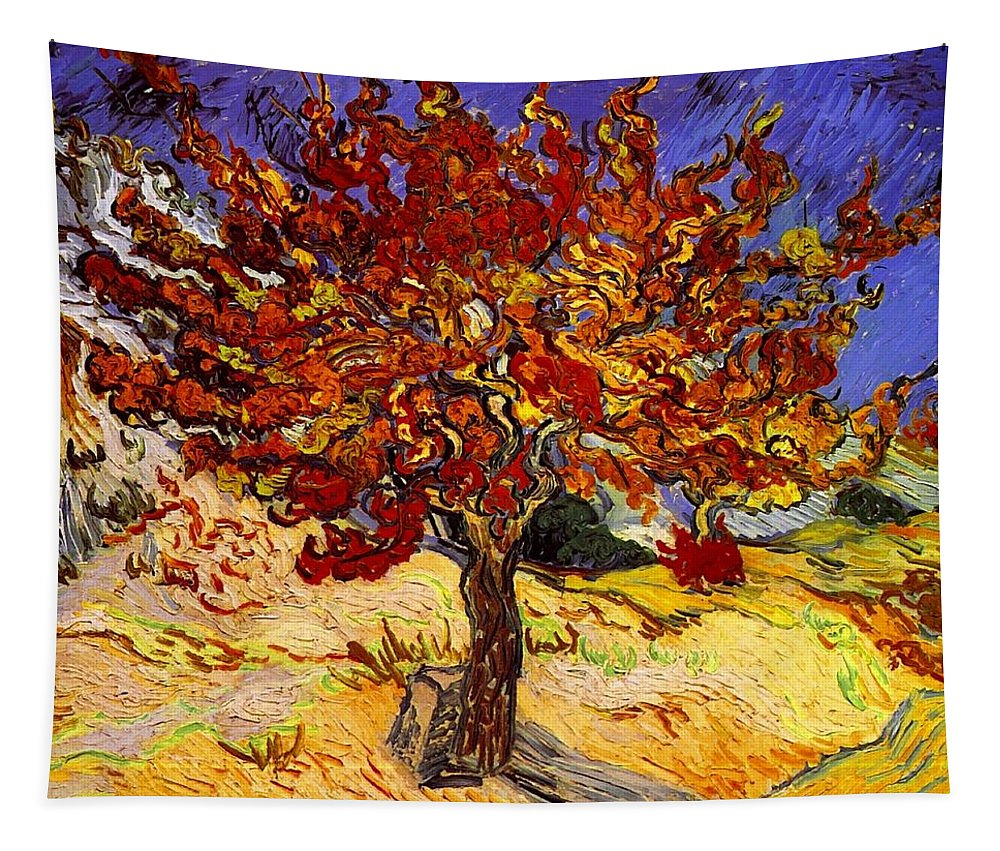 Vincent Van Gogh Tapestry featuring the painting Mulberry Tree by Vincent Van Gogh