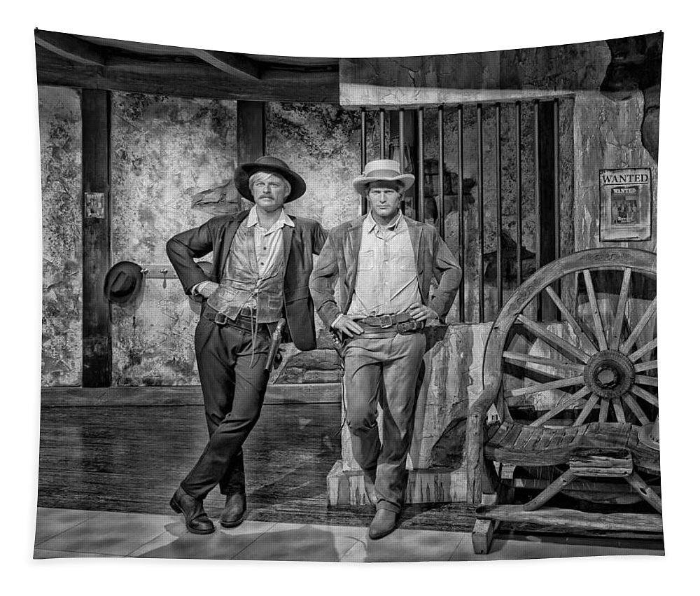 Buch Cassidy And The Sundance Kid Tapestry featuring the photograph Newman And Redford by Mountain Dreams
