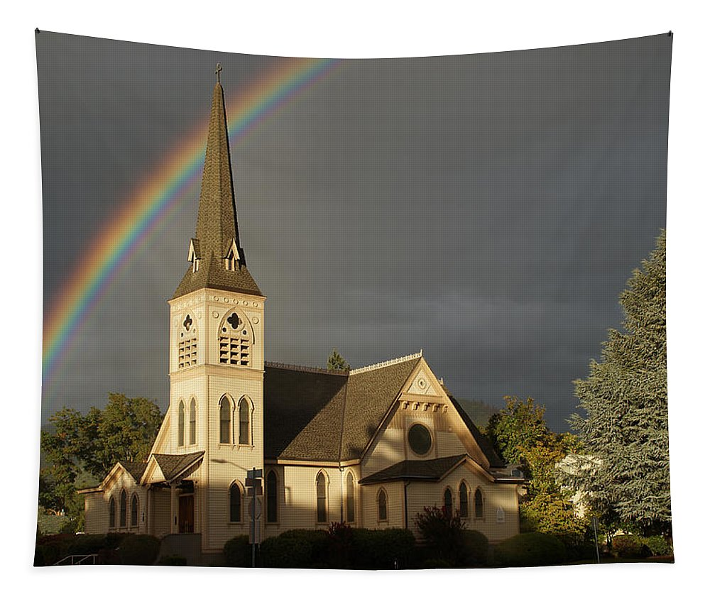 Newman United Methodist Church Tapestry featuring the photograph Newman United Methodist Church by Mick Anderson