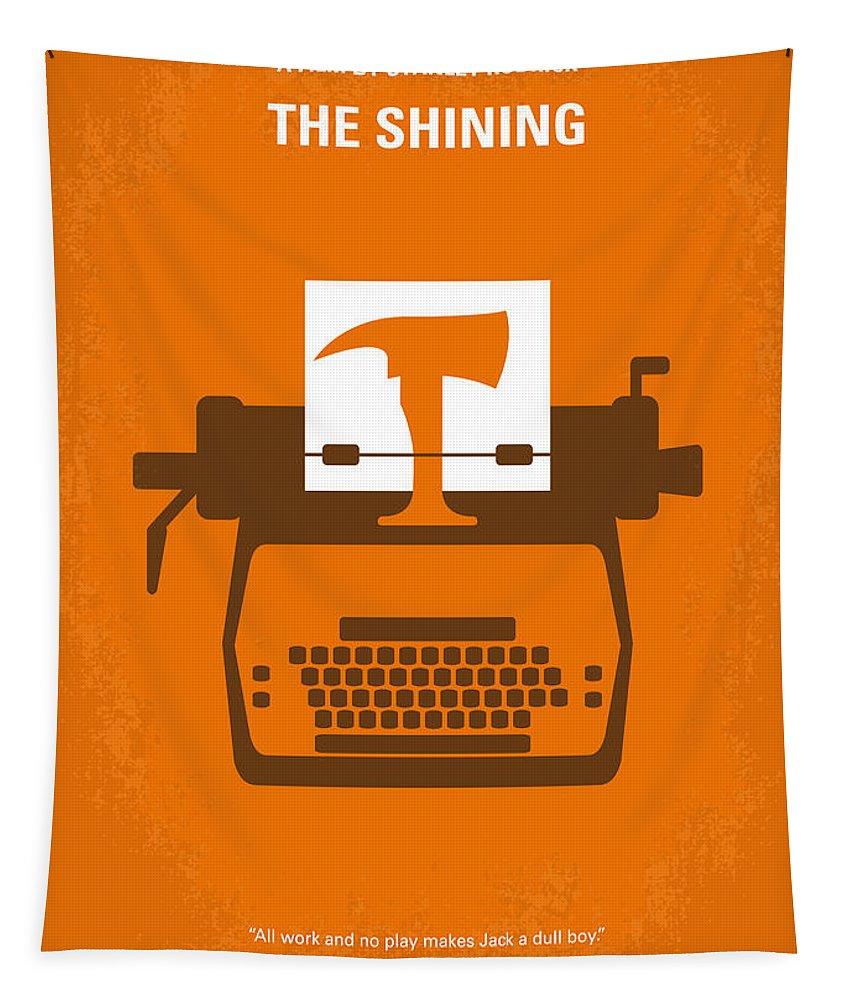 The Tapestry featuring the digital art No094 My The Shining minimal movie poster by Chungkong Art