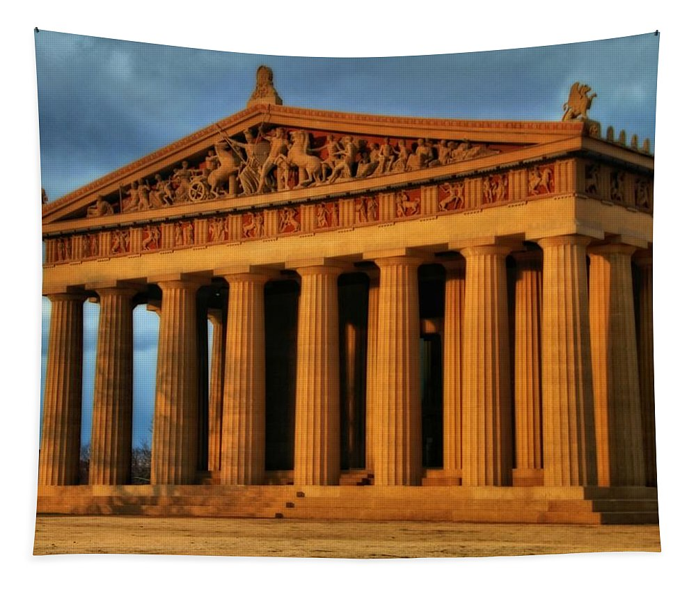 Parthenon Tapestry featuring the photograph Parthenon by Dan Sproul