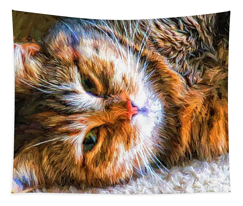 Cat Tapestry featuring the photograph Pretty Kitty by Alice Gipson