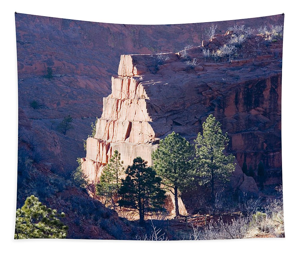 Bluffs Tapestry featuring the photograph Red Rocks Open Space by Steve Krull