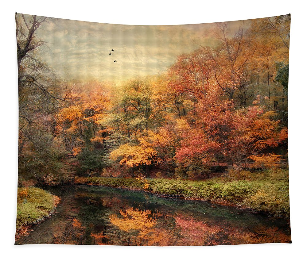 Nature Tapestry featuring the photograph Reflections Of October by Jessica Jenney
