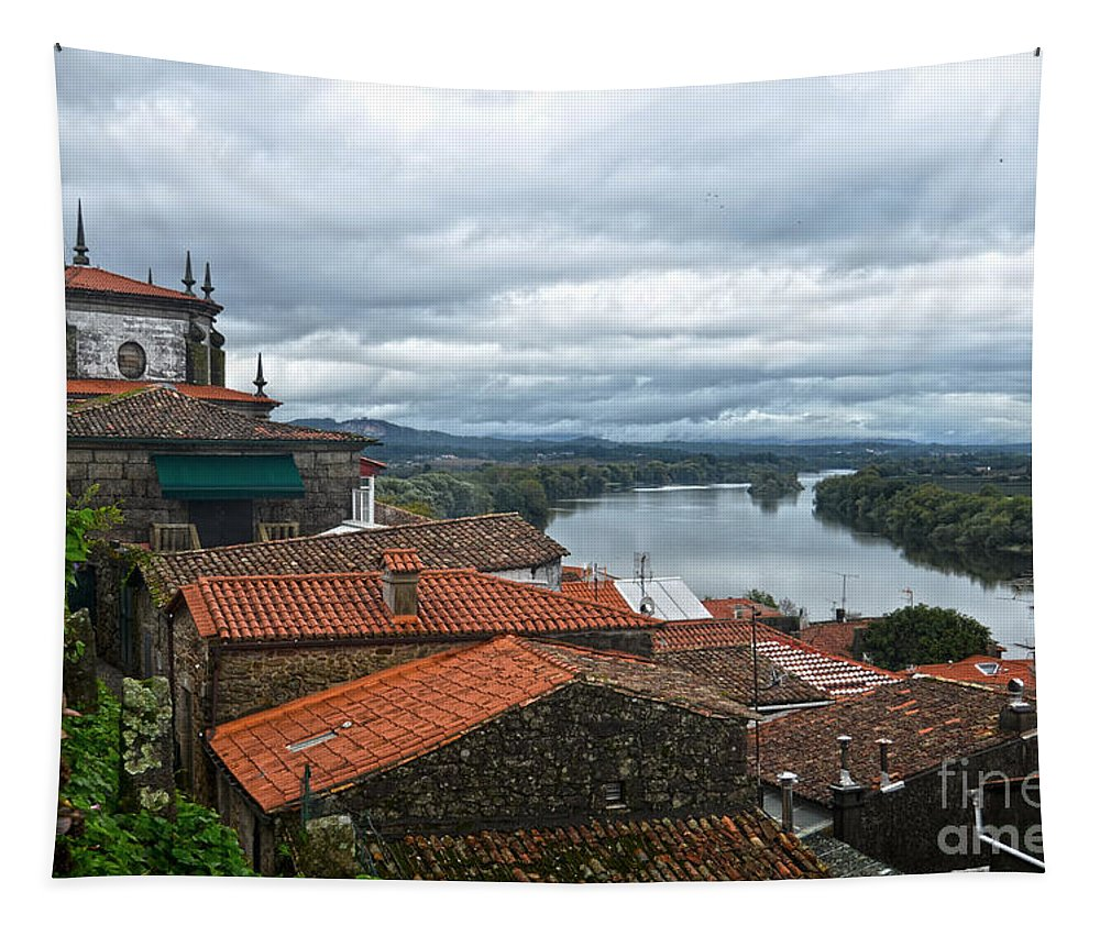 Mino Tapestry featuring the photograph River Mino And Portugal From Tui by RicardMN Photography