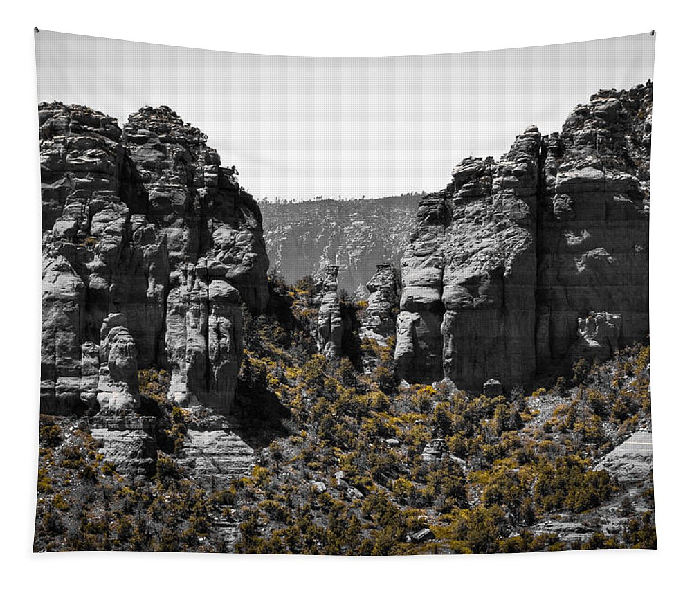 Sedona Tapestry featuring the photograph Sedona Rock Formations by David Patterson