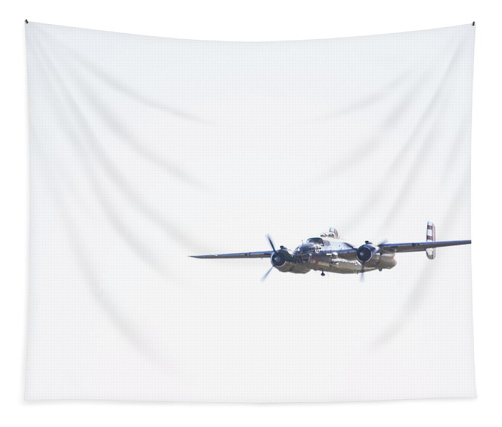 Military Tapestry featuring the photograph Silver Streak by Karol Livote