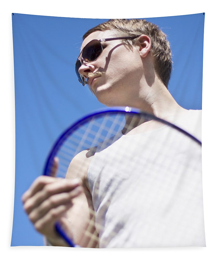Action Tapestry featuring the photograph Sporting A Racquet by Jorgo Photography - Wall Art Gallery