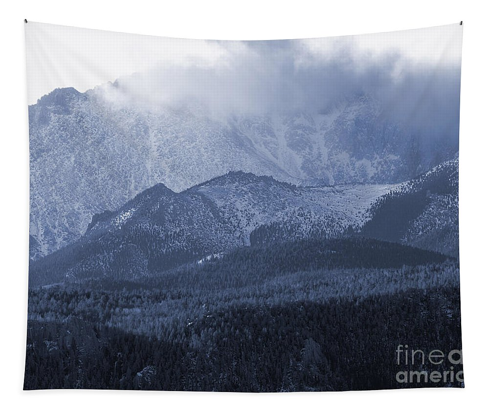 Colorado Tapestry featuring the photograph Stormy Peak by Steve Krull